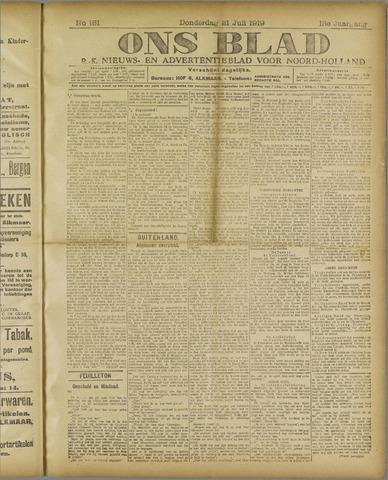 Ons Blad : katholiek nieuwsblad voor N-H 1919-07-31