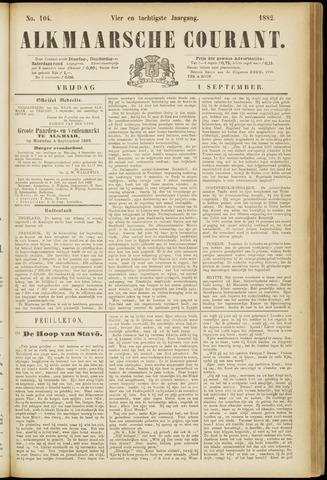 Alkmaarsche Courant 1882-09-01