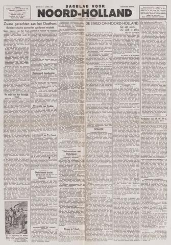 Dagblad Noord-Holland, Schager editie 1944-04-04