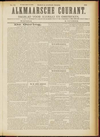 Alkmaarsche Courant 1915-11-24