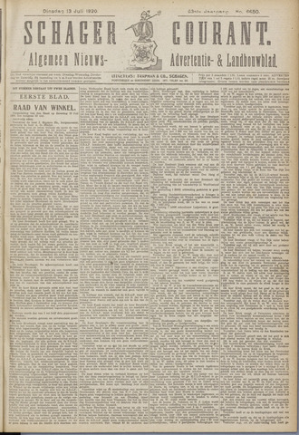 Schager Courant 1920-07-13