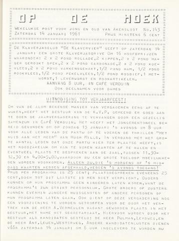 Op De Hoek, weekblad voor Akersloot 1961-01-14