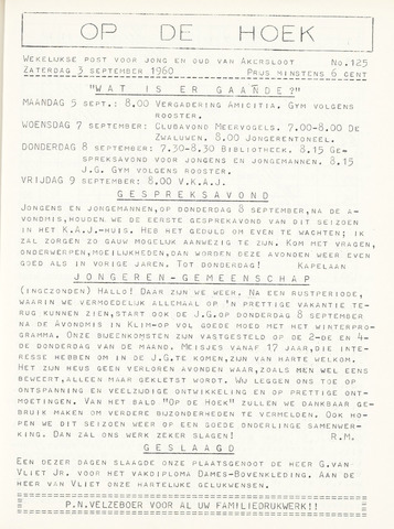 Op De Hoek, weekblad voor Akersloot 1960-09-03