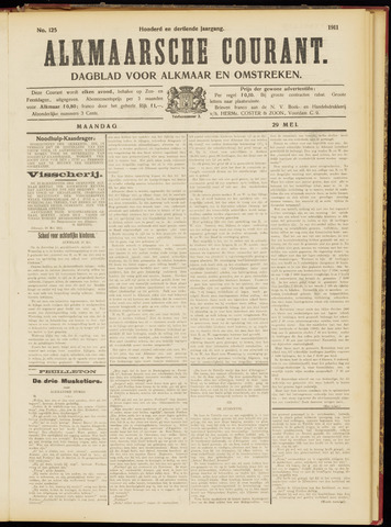 Alkmaarsche Courant 1911-05-29