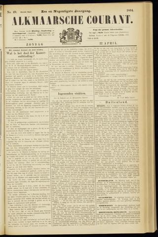 Alkmaarsche Courant 1894-04-22