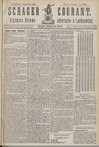 Schager Courant 1920-08-11