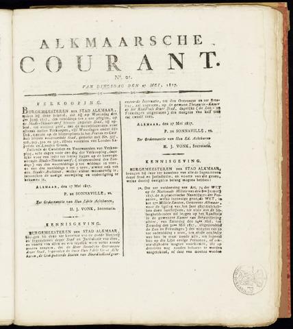 Alkmaarsche Courant 1817-05-27