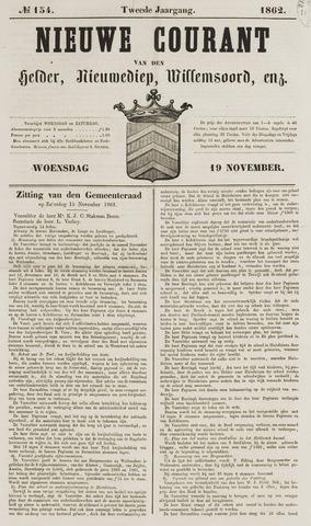 Nieuwe Courant van Den Helder 1862-11-19
