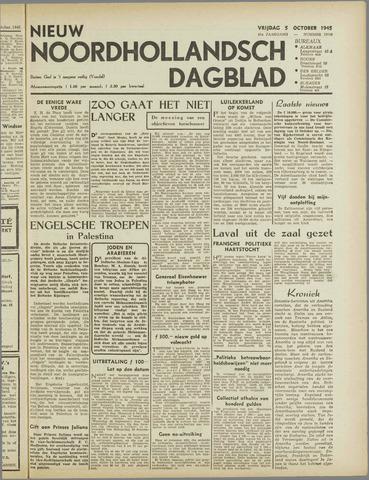 Nieuw Noordhollandsch Dagblad : voor Alkmaar en omgeving 1945-10-05