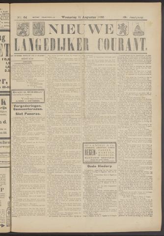 Nieuwe Langedijker Courant 1920-08-11