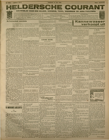 Heldersche Courant 1931-07-21