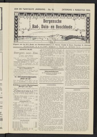 Bergensche bad-, duin- en boschbode 1930-08-02