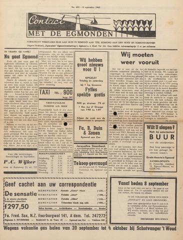Contact met de Egmonden 1965-09-08