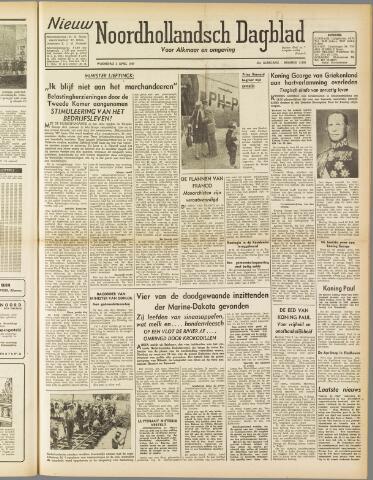 Nieuw Noordhollandsch Dagblad : voor Alkmaar en omgeving 1947-04-02