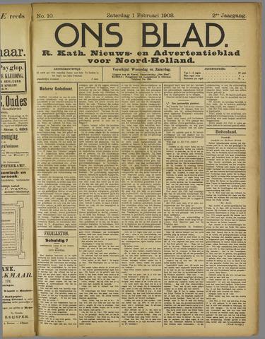 Ons Blad : katholiek nieuwsblad voor N-H 1908-02-01