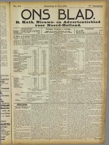 Ons Blad : katholiek nieuwsblad voor N-H 1911-07-08