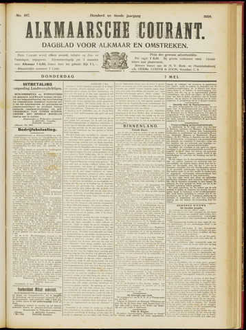 Alkmaarsche Courant 1908-05-07