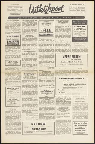 Uitkijkpost : nieuwsblad voor Heiloo e.o. 1968-08-08