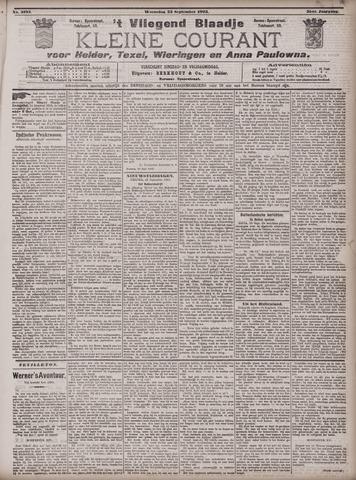 Vliegend blaadje : nieuws- en advertentiebode voor Den Helder 1903-09-23
