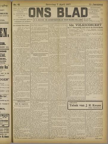 Ons Blad : katholiek nieuwsblad voor N-H 1917-04-07