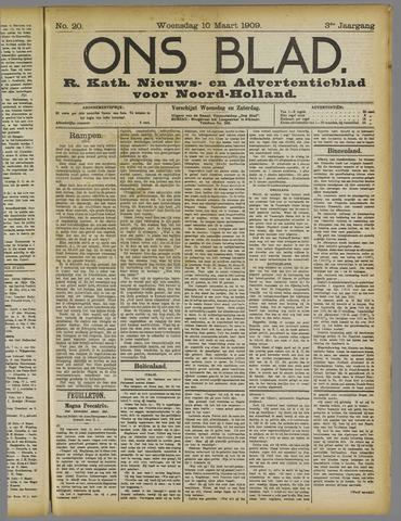 Ons Blad : katholiek nieuwsblad voor N-H 1909-03-10