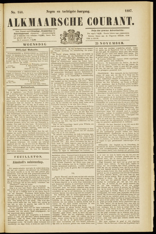 Alkmaarsche Courant 1887-11-23