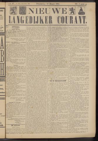 Nieuwe Langedijker Courant 1924-03-27