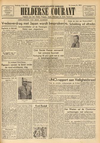 Heldersche Courant 1950-10-12