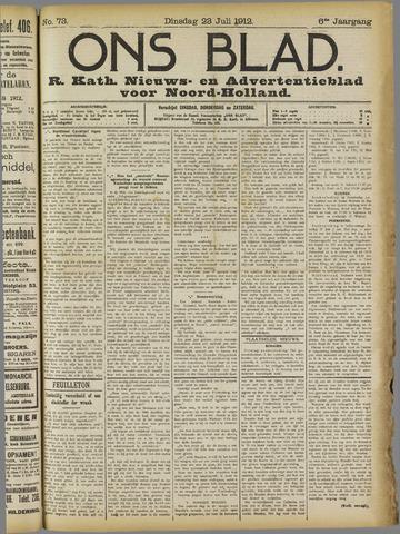Ons Blad : katholiek nieuwsblad voor N-H 1912-07-23
