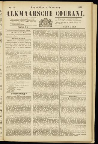 Alkmaarsche Courant 1888-02-05