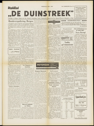 De Duinstreek 1956-10-05