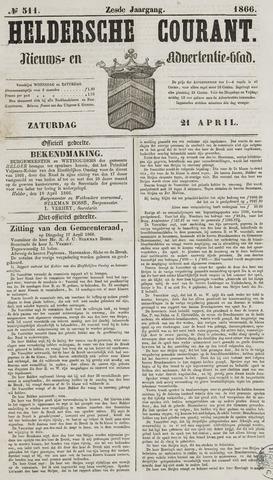 Heldersche Courant 1866-04-21