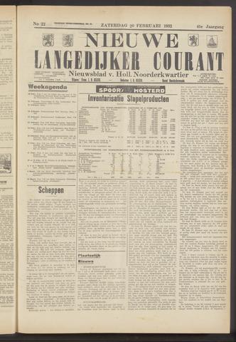 Nieuwe Langedijker Courant 1932-02-20