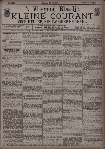 Vliegend blaadje : nieuws- en advertentiebode voor Den Helder 1887-07-30