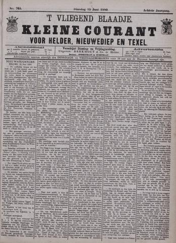 Vliegend blaadje : nieuws- en advertentiebode voor Den Helder 1880-06-15