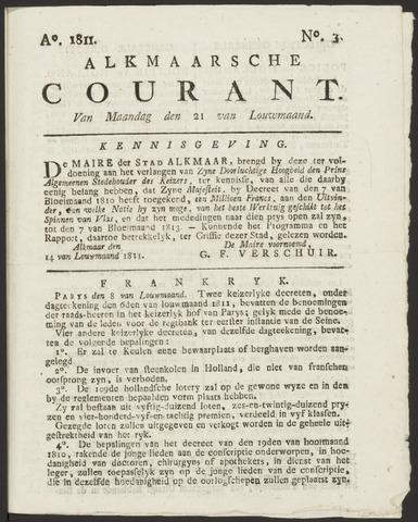 Alkmaarsche Courant 1811-01-21