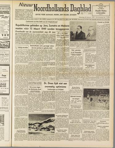 Nieuw Noordhollandsch Dagblad : voor Alkmaar en omgeving 1949-01-24