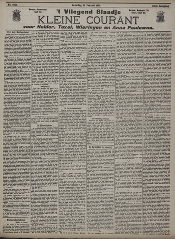 Vliegend blaadje : nieuws- en advertentiebode voor Den Helder 1908-01-25