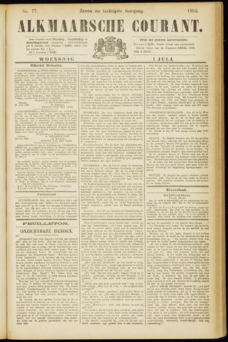Alkmaarsche Courant 1885-07-01