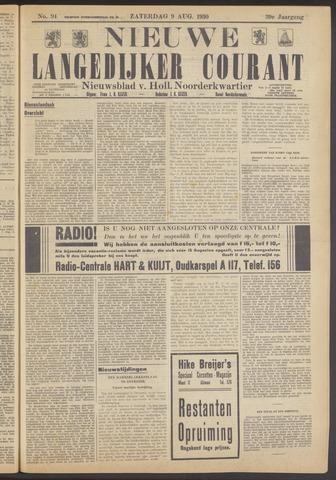Nieuwe Langedijker Courant 1930-08-09