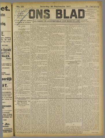 Ons Blad : katholiek nieuwsblad voor N-H 1917-09-29