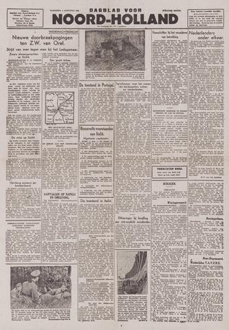 Dagblad Noord-Holland, Schager editie 1943-08-04