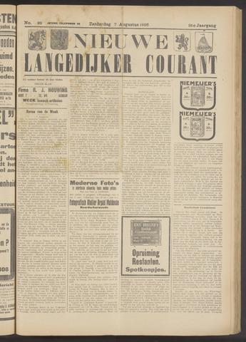 Nieuwe Langedijker Courant 1926-08-07