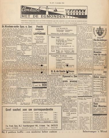 Contact met de Egmonden 1964-11-05