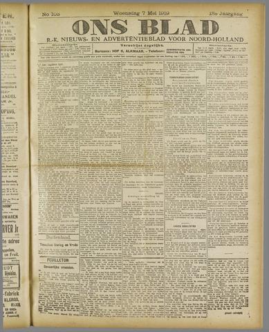 Ons Blad : katholiek nieuwsblad voor N-H 1919-05-07