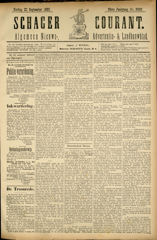 Schager Courant 1895-09-22