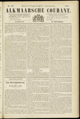 Alkmaarsche Courant 1889-09-20