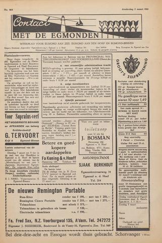 Contact met de Egmonden 1961-03-02