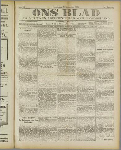 Ons Blad : katholiek nieuwsblad voor N-H 1920-11-25
