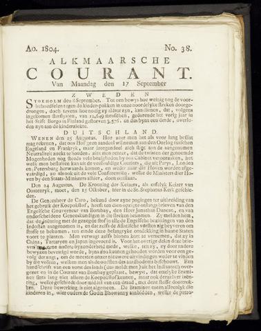 Alkmaarsche Courant 1804-09-17